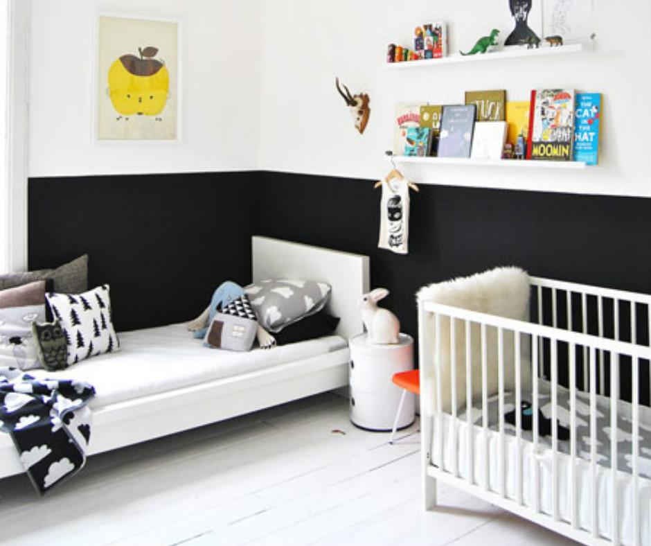 Noir et blanc s 39 invitent dans la chambre d 39 enfant joli tipi for Decoration de chambre pour bebe