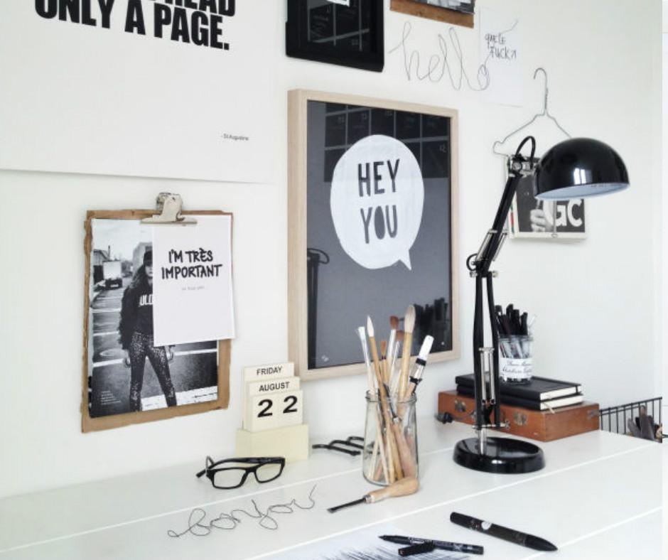 am nager un bureau dans le salon joli tipi. Black Bedroom Furniture Sets. Home Design Ideas