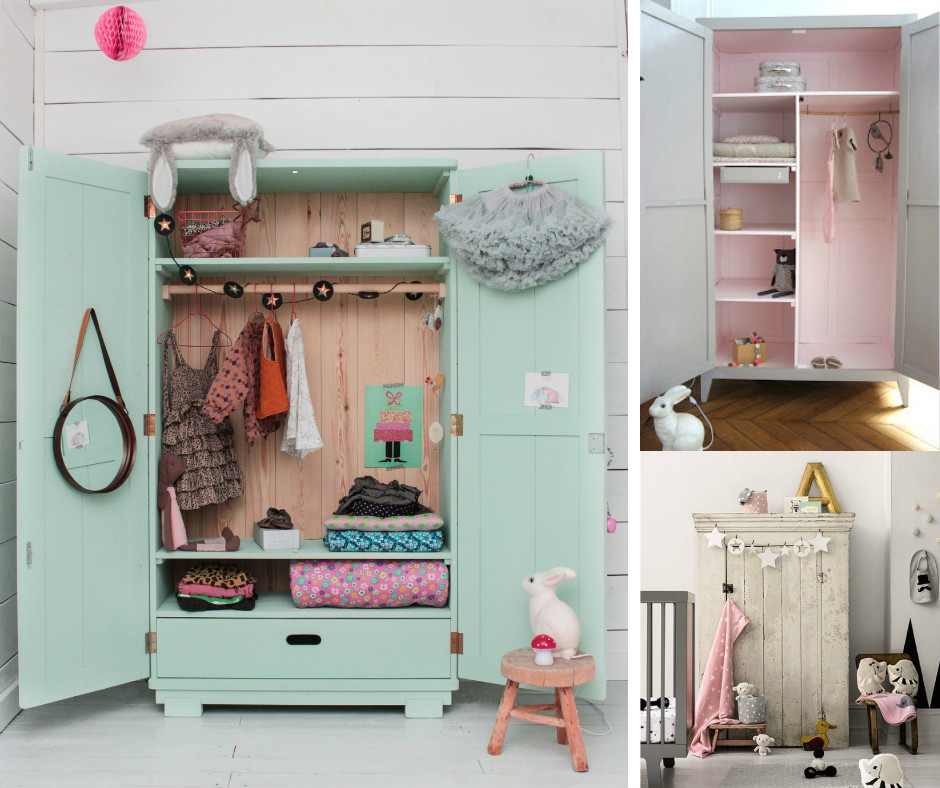 Awesome armoire enfant fille bleu photos for Armoire metallique chambre ado