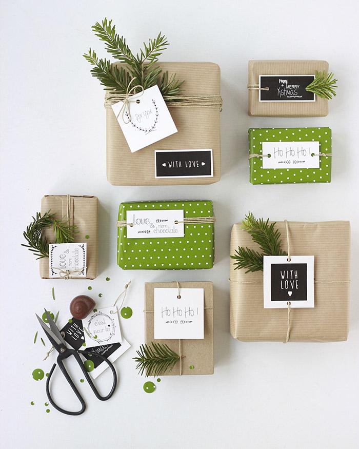 etiquettes free printable cadeaux de noël emballage et personnalisation