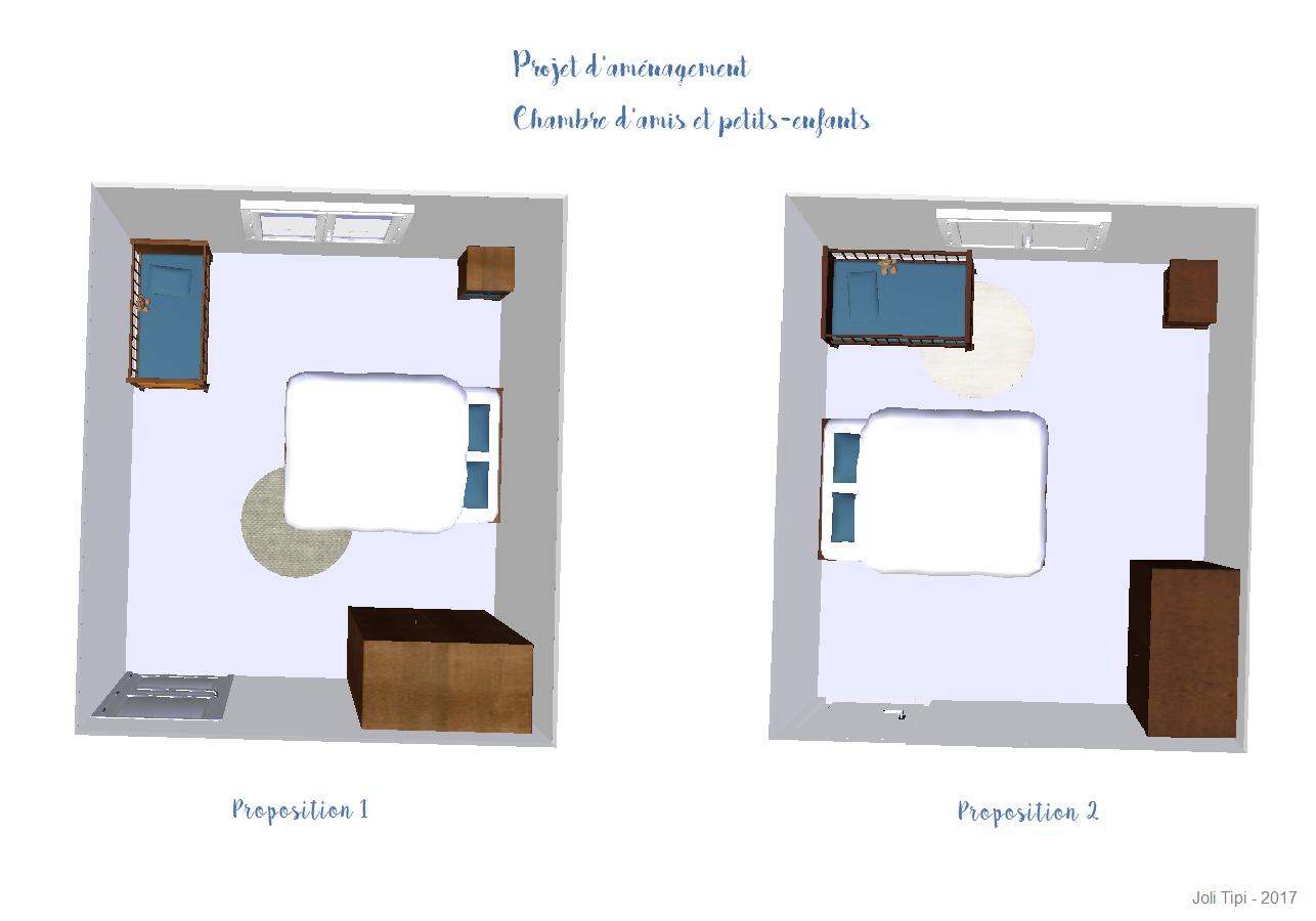 Projet d'aménagement Chambre d'amis et Chambre petits enfants
