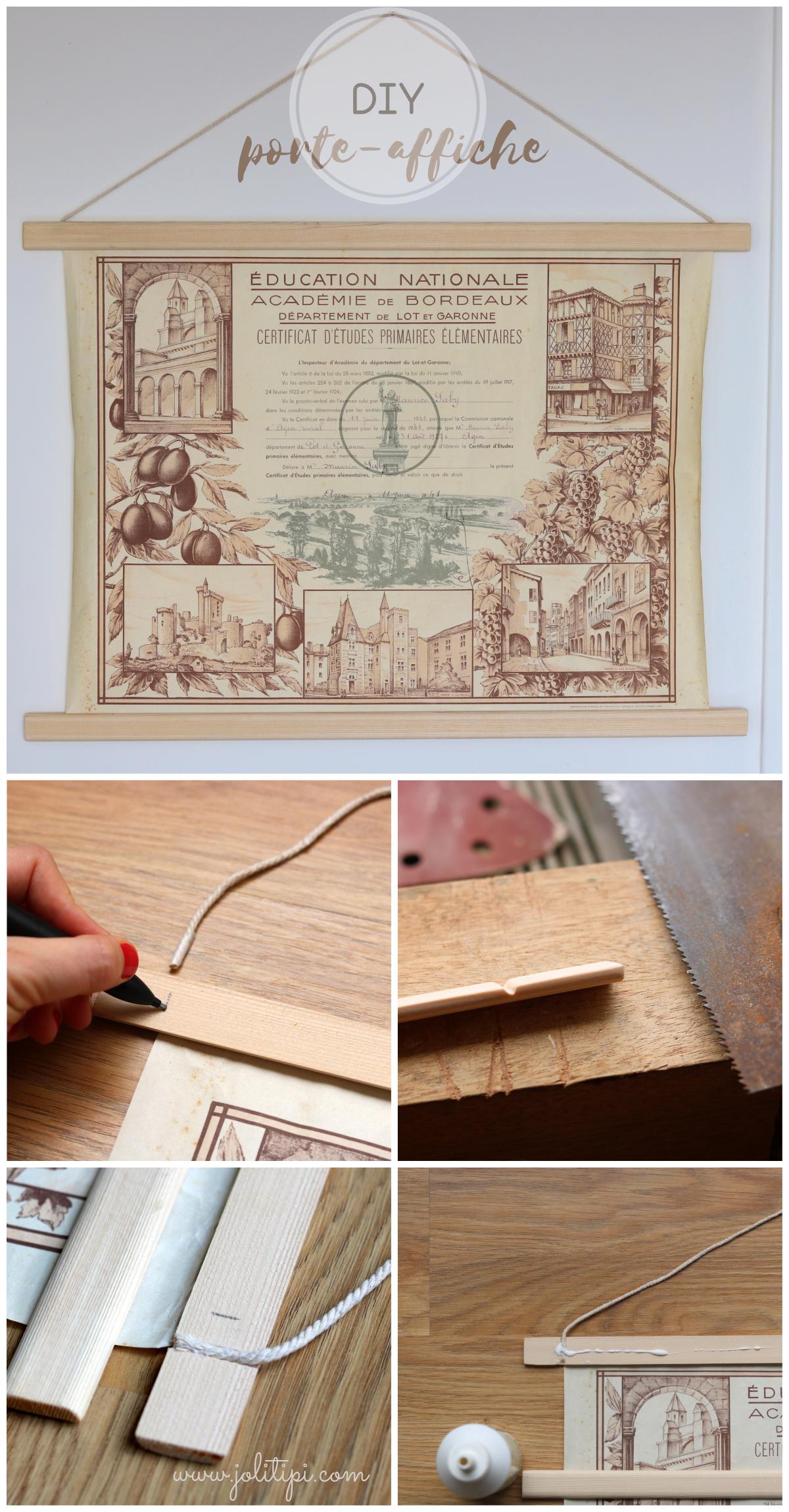 tutoriel fabriquer porte-affiche en bois